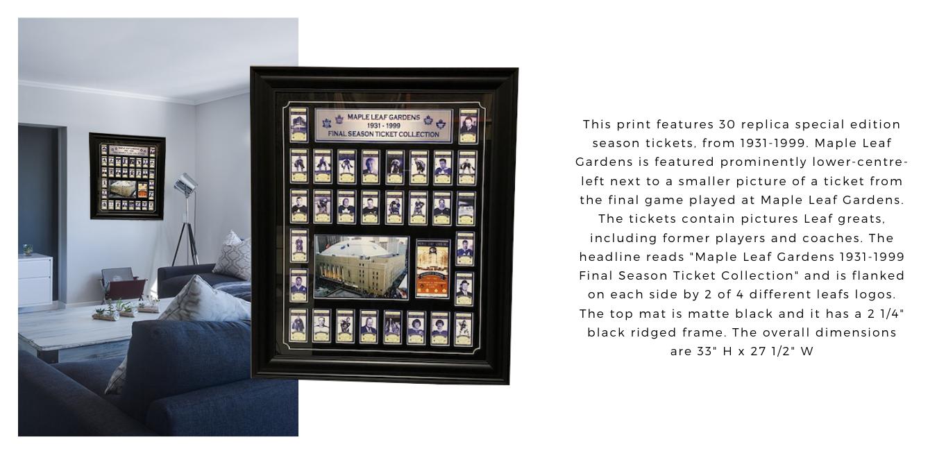 64-272 Maple Leaf Garden Ticket Set