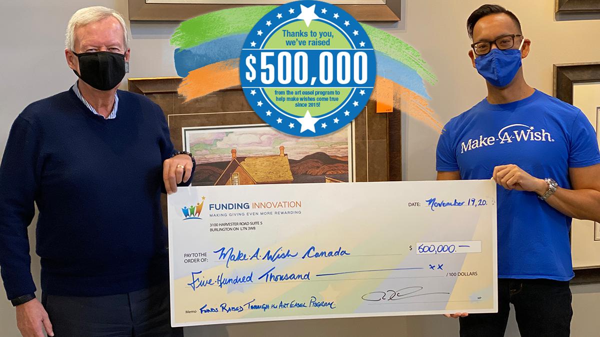 Celebration $500,000 Milestone for Make-A-Wish Canada
